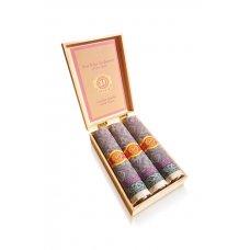 Szivar formájú textilzsebkendő, dekoratív fadobozban - M57-2
