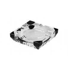Kristályüveg szivar hamutál 4 szivarnak - négyzet