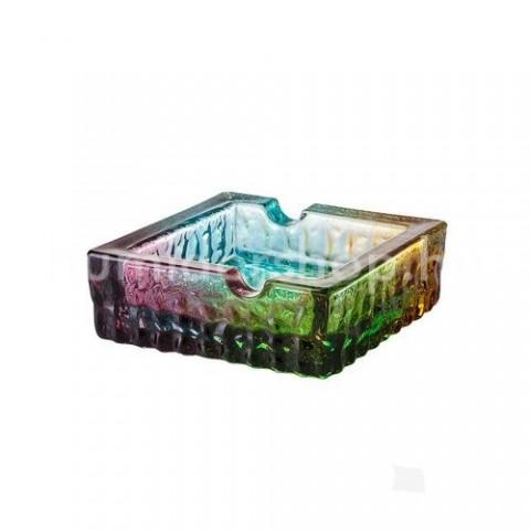 Üveg szivar hamuzó 2 szivar részére - színes