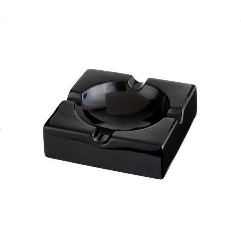 Szivar hamutál 4 szivar - fekete porcelánból nagy méretű - Angelo