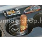 Xikar autós szivar hamutál beépített szivartartó rugóval króm színű - fedéllel
