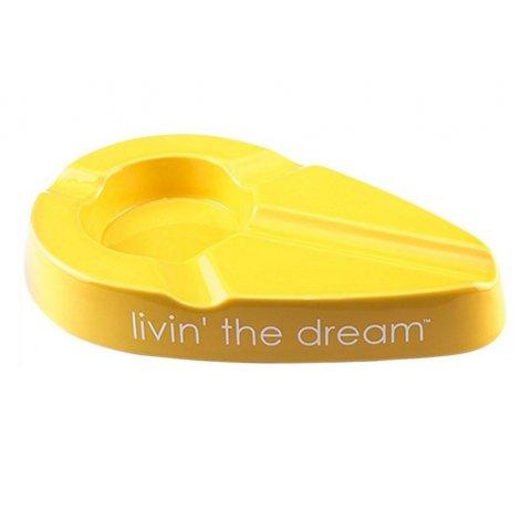 Xikar kerámia szivar hamutál Livin the Dream  4 szivar - sárga