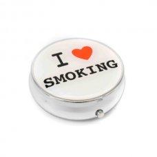 Kör alakú zsebhamutál - I Love Smoking felirattal