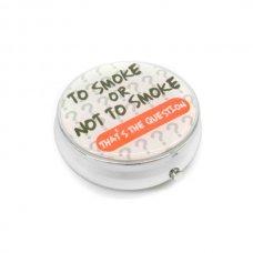 Kör alakú zsebhamutál - To Smoke or Not to Smoke feliratal - fehér
