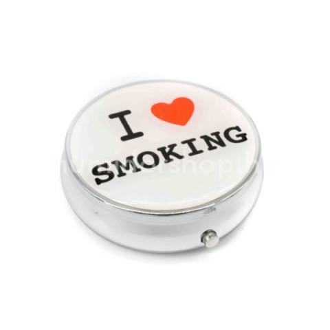 Kör alakú zsebhamutál -  Love Smoking felirattal