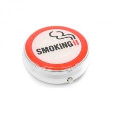 Kör alakú zsebhamutál - smoking felirattal