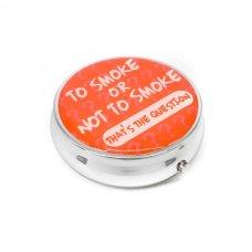 Kör alakú zsebhamutál - To Smoke or Not to Smoke feliratal - sárga