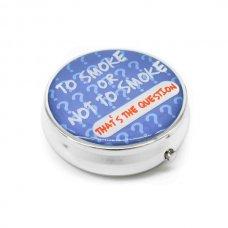 Kör alakú zsebhamutál - To Smoke or Not to Smoke feliratal - kék