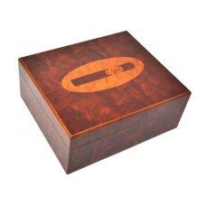 Gyökérfa mintás humidor 40 szivar részére, cédrusfa szivartartó doboz, szivar díszítéssel