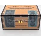 Humidor Cuban Cigarro - 30 szál szivar részére, mintás, lakkozott szivar tároló doboz,  kulccsal zárható, párásító és belső hygrometer