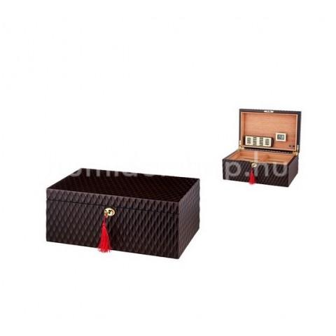 Angelo szivar doboz 70 szál szivar tárolására, spanyol cédrusfából - barna szinü kivehetö tálcával