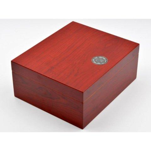 Medici humidor 40 szál szivar részére, cédrusfa szivardoboz, párásítóval és hygrométerrel - cherry