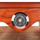 Szivarszekrény nagy méretű kb. 150 szál szivarnak, cédrusfa belsővel, körbe üveges, kristályos párasítóval - Angelo