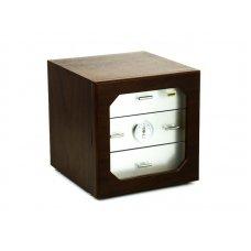 Adorini Humidor Chianti-M Deluxe diófa/alumínium - fiókos szivar szekrény, üvegajtóval 125 szál szivarnak
