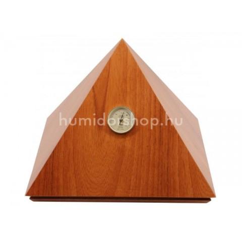 Adorini Humidor Pyramid Deluxe M Credo, világos barna színű cédrusfa szivar tároló - 50 szál szivarnak