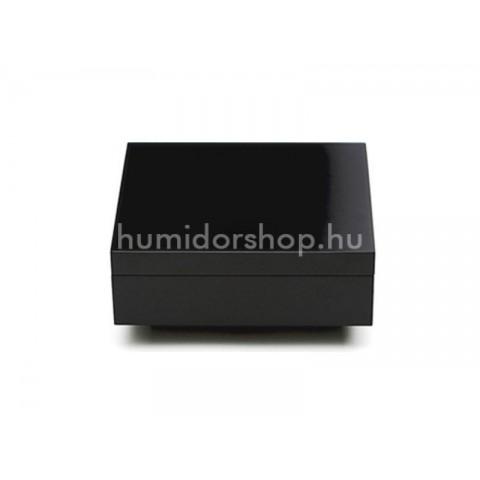 Adorini Torino Deluxe Humidor spanyol cédrusfából lakozott matt fekete 30 szál szivar részére