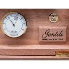 Gentili Humidor Radica Olmo - Pelle Pitone Marrone, barna színű eredeti pitonbőr borítással spanyol cédrusfa szivar tároló 10 szivar részére - Limited Edition
