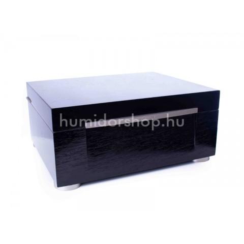 Limitált kiadású Xikar HP humidor 75 szál szivar részére spanyol cédrusfából és led világítással - Fekete