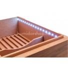 Limitált kiadású Xikar HP humidor 75 szál szivar részére spanyol cédrusfából és led világítással - Dió