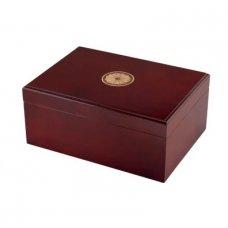 Sao Paolo cédrusfa szivar tároló doboz - Mahagóni - 50 szivarnak