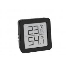 Digitális TFA digitális hőmérséklet és páratartalom-mérő, fekete - 6x6cm
