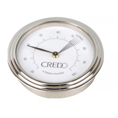 Credo Hygrométer - Mágneses - Króm kerettel , fehér számlappal 55mm