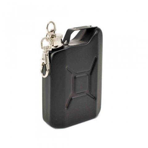 Benzines kanna rozsdamenes laposüveg, acél flaska - fekete - 5oz. = 1.47dl
