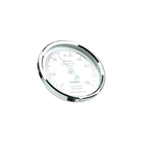 Minőségi Adorini szintetikus hajszál hygrométer ezüst színű, szivar tároló dobozba