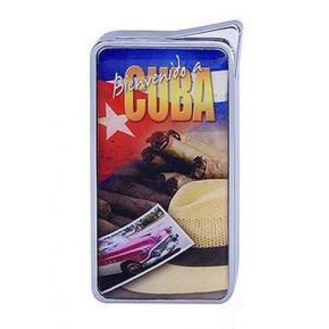 Szivargyújtó Champ Cuba - Képeslap Kuba