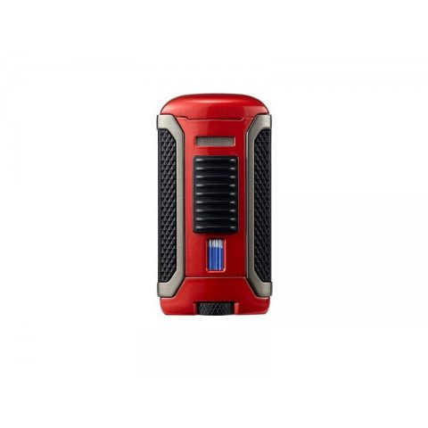 Colibri Apex Red, egyes Jet lánggal égő szivar öngyújtó Pachmayr mintával - vörös