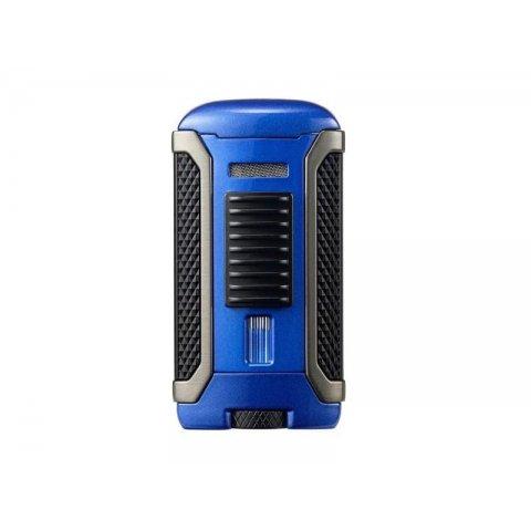 Colibri Apex Blue, egyes Jet lánggal égő szivar öngyújtó Pachmayr mintával - kék