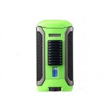 Colibri Apex Green, egyes Jet lánggal égő szivar öngyújtó Pachmayr mintával - zöld