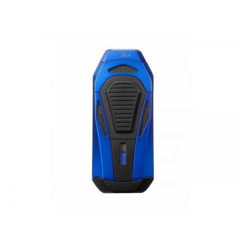 Colibri Boss 3 Jet Blue, szivar gyújtó 3-as szúrólánggal és kihajtható dupla pengés szivarvágóval - kék