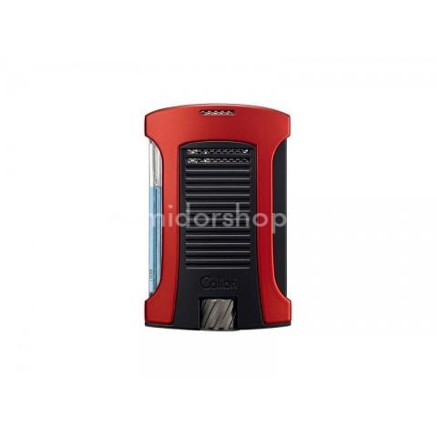 Colibri Daytona Red, erős egyes szúrólángos szivar öngyújtó piezo gyújtással - vörös