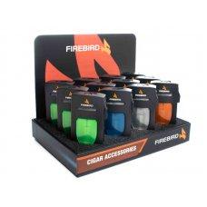 Firebird Rogue 1-es szúrólángos szivaros öngyújtó, nagy láng állító kerékkel - 12 darabos tálca