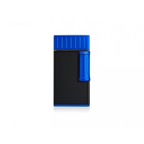 Colibri Julius Blue szivar öngyújtó, fekete és kék, dupla lánggal