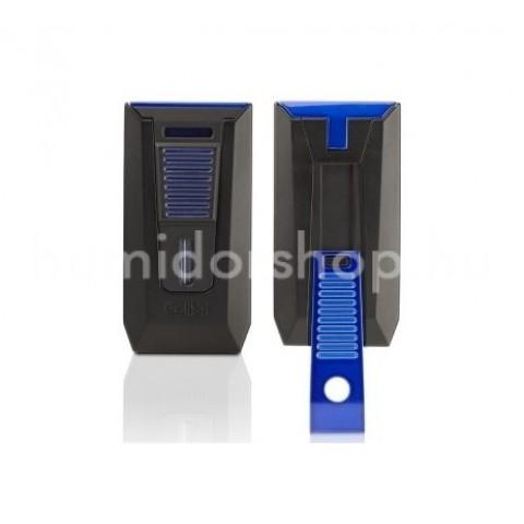 Colibri Slide Blue dupla szúró lángos szivargyújtó, beépített szivarfúróval - kék