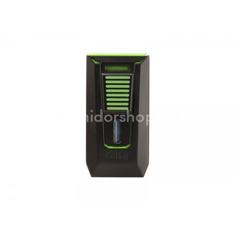 Colibri Slide Green dupla szúró lángos szivargyújtó, beépített szivarfúróval - zöld