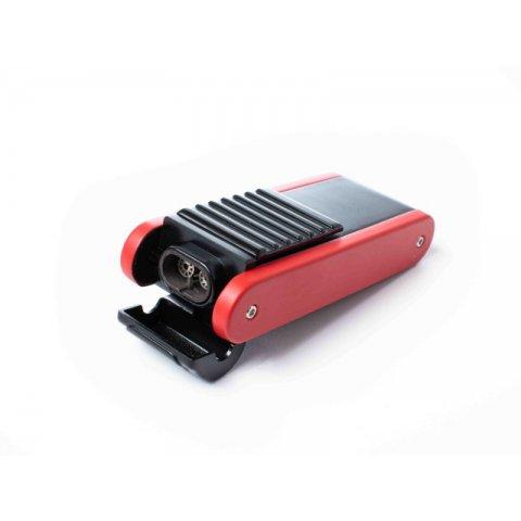 Cozy Commander dupla Jet lángos szivaros öngyújtó kihajtható szivarfúróval - piros