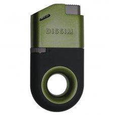 Dissim Green Soft Flame öngyújtó 45 fokban döntött lánggal, szivar és pipa gyújtásra is használható - zöld