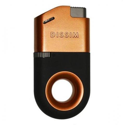Dissim Orange Soft Flame öngyújtó 45 fokban döntött lánggal, szivar és pipa gyújtásra is használható - narancssárga