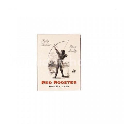 Pipa és szivar gyújtó gyufa Red Rooster kén mentes kb. 60 szál