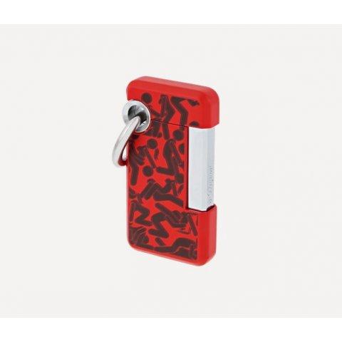 S.T. Dupont Hooked KAMASUTR-O öngyújtó piros/króm színű