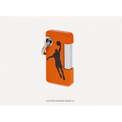S.T. Dupont Hooked DUNK-O öngyújtó, kosárlabda - narancssárga és króm