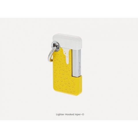 S.T. Dupont Hooked APER-O öngyújtó, jéghideg sör mintával - sárga és króm