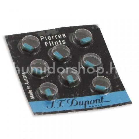S.T. Dupont szivargyújtó tűzkő pótlás - kék (8db)