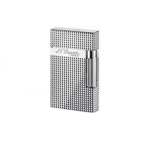 Szivaröngyújtó S.T. Dupont Ligne 2 káró mintás - Ezüst