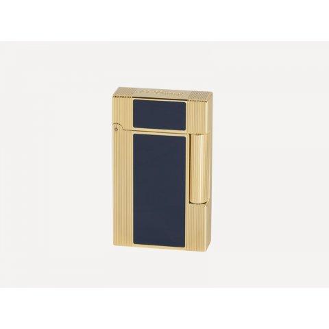 Szivaros öngyújtó S.T. Dupont L2 Windsor Gold Blue, kék színű kínai lakk bevonattal - aranyozott