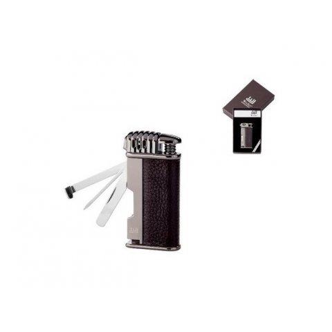 Winjet Davos pipagyújtó piezo gyújtással és beépített pipakellékekkel - barna bőr borítással
