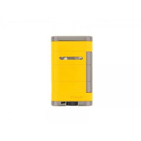 Xikar Allume Double - Electric Yellow szivar öngyújtó 2-es szúró lánggal - sárga